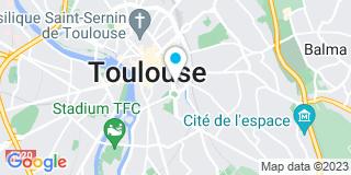 Plan Carte SCP Philippe Ginesty, Alexandre Grimaud et Marie Vaissière à Toulouse