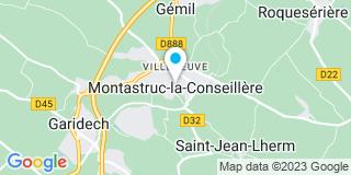 Plan Carte SCP Thierry Boyer et Sébastien Belval à Montastruc-la-Conseillère