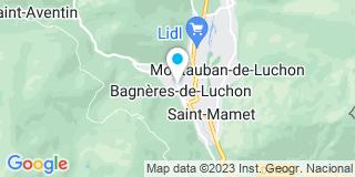 Plan Carte SCP Thierry Gely, Isabelle Lebreux-Caillon et Marion Mathieu-Gonçalves de Jesus à Bagnères-de-Luchon
