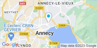 Plan Carte Notaire Kroely Alain à Annecy