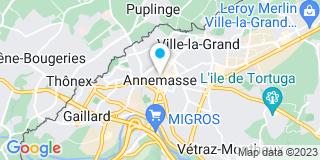 Plan Carte Les notaires Christian Verdonnet, Alexandra Tissot-Grevaz et Katia Gauthier à Annemasse