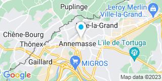 Plan Carte Les notaires Evelyne Bron-Fulgraff, Anne-Marie Lasserre et François Xavier Rochette à Annemasse