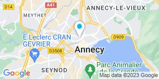 Plan Carte Notaire Jean Marc Naz à Annecy