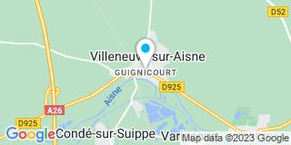 Plan Carte Alexandre Prevost à Guignicourt