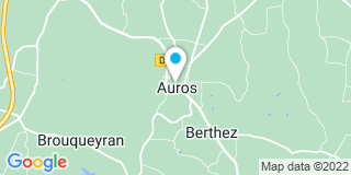 Plan Carte Gramont Hugues à Auros