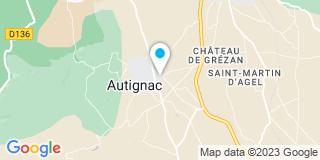 Plan Carte Mas Caroline à Autignac
