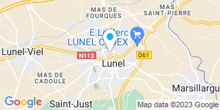 Plan Carte Bernard Blazy, Michel Denjean et Sophie Verlaguet à Lunel