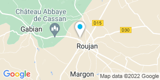 Plan Carte Catherine Bancal-Leclerc et Michel Bonetto à Roujan