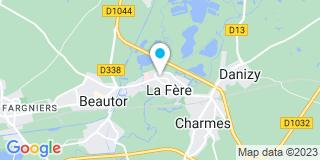 Plan Carte Emmanuel Guénard à la Fère