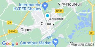 Plan Carte Yann Dutriez-Lerminet-Bibe à Chauny