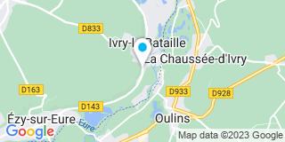 Plan Carte Marie-Hélène Bicot-Blessel et Jérôme Bicot à Ivry-la-Bataille