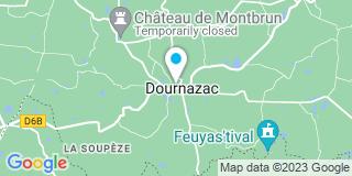 Plan Carte Notaire Xavier Savary à Dournazac