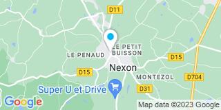 Plan Carte Les notaires Bruno Pinlon et Cathérine Exbrayat à Nexon