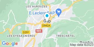 Plan Carte Les notaires Bernard Martin, Bernin Monin et Nicolas Villard à Gap