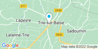 Plan Carte Notaire Christel Casamajou et Olivia Colusso à Trie sur Baise