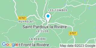 Plan Carte Parisien Denis à Saint Pardoux La Riviere