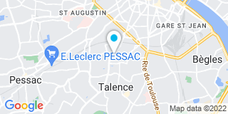 Plan Carte Pennarun Christine à Talence