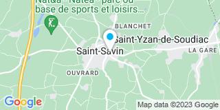 Plan Carte Santos-Mauvezin Caroline à Saint Savin
