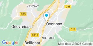 Plan Carte Christine Pascaud-Morel-VulIiez et Pierre Pinson à Oyonnax