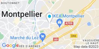 Plan Carte Jean-Luc Nouguier, Luc Ribaud et Angélique Nouguier-Lecomte à Montpellier