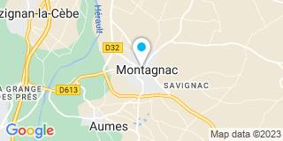 Plan Carte Pierre Revéron et Julien Ducarne à Montagnac