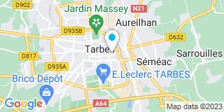 Plan Carte Les notaires Jacques Bareille et Emilie Bareille à Trabes