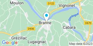 Plan Carte SCP Françoise Dutrenit et Patrick Latapye à Branne