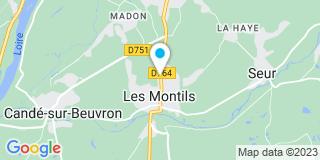 Plan Carte Les noatires Florence Lescure-Mosseron et Aurélien Lacour à Les Montils