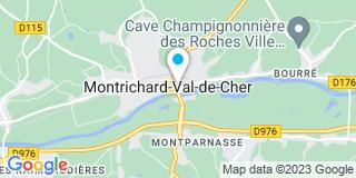 Plan Carte Les notaires Nicolas Tiercelin et Pilippe Brunet à Montrichard