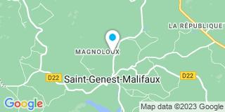 Plan Carte Notaire Stéphane Robin à Saint-Genest-Malifaux