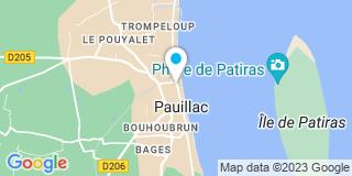 Plan Carte Maubru Nicolas et Nicolas Didier à Pauillac