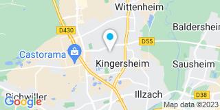 Plan Carte Cauchetiez Isaline à Kingersheim