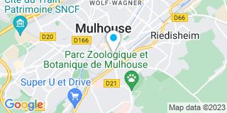 Plan Carte Jean-Philippe Tresch et Pierre-Yves Thuet à Mulhouse