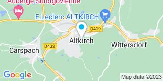 Plan Carte Philippe Koenig et Catherine Baeumlin-Andelfinger à Altkirch