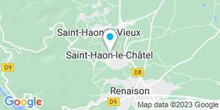 Plan Carte Les notaires Wilfrid Merle et Caroline Vaudier à Saint Haon Le Chatel