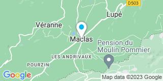 Plan Carte Notaire Cécile Granier  à Maclas