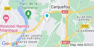 Plan Carte Les notaires Bertrand Martin, Nathalie Degat-Astchgen, Eric Audoire et Gildas Rass à Carquefou