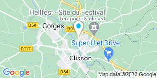 Plan Carte Les notaires Jean Menanteau et Samuel Brevet à Clisson