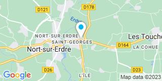 Plan Carte Les notaires Maryvonne Chevalier et Mathilde Boucheron-Tuffreau à Nort-sur-Erdre