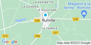 Plan Carte François Bienvenue et Virginie Loret à Romillé