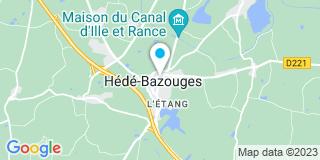 Plan Carte Guillaume Lecoq et Sébastien Legrain à Hédé