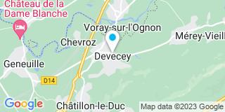 Plan Carte Bideaux Marie-Claude à Devecey