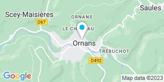 Plan Carte Zedet Christian et Zedet Olivier à Ornans