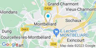 Plan Carte Raebisch Eve  et Laurence Adam-Pfeiffer à Montbeliard