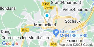 Plan Carte Darmon Evelyne et  Amblard Pierre à Montbeliard