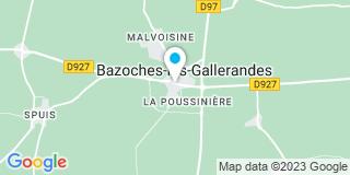 Plan Carte Notaire Poignon Virginie à Bazoches les Gallerandes