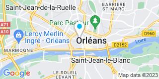 Plan Carte Les notaires Stéphane Gosse, Philippe Gosse et Frédéric Bourgery à Orléans