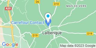 Plan Carte Notaire Le Jeune-Cerna Françoise à Lalbenque