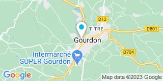 Plan Carte Les notaires Nicolas Laporte et Isabelle Meulet-Laporte à Gourdon