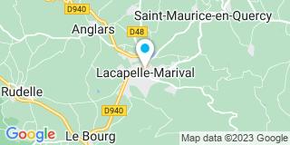 Plan Carte Les notaires Philippe Herbet et Christine Herbet à Lacapelle Marival